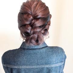 簡単ヘアアレンジ アウトドア フェミニン ヘアアレンジ ヘアスタイルや髪型の写真・画像