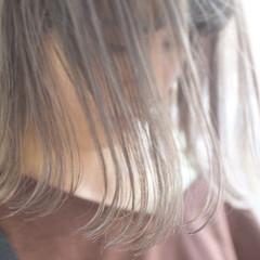 ハイライト ホワイトハイライト コントラストハイライト ボブ ヘアスタイルや髪型の写真・画像
