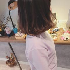 デート オフィス 女子会 ミディアム ヘアスタイルや髪型の写真・画像