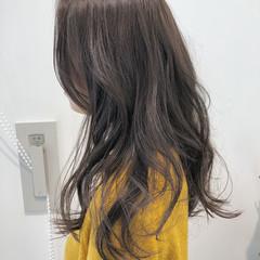 外国人風カラー 透明感 ゆるふわ ロング ヘアスタイルや髪型の写真・画像