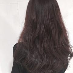 ロング ナチュラル セミロング ピンク ヘアスタイルや髪型の写真・画像