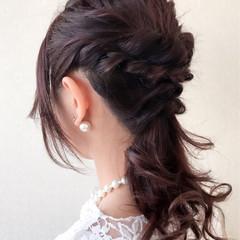 女子会 結婚式 エレガント デート ヘアスタイルや髪型の写真・画像