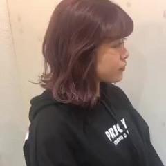 透け透け ラベンダーピンク ガーリー 透け感ヘア ヘアスタイルや髪型の写真・画像