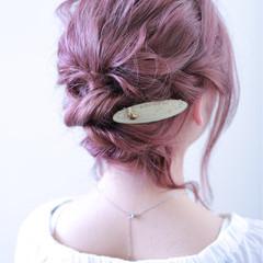 ヘアアレンジ デート ガーリー 二次会 ヘアスタイルや髪型の写真・画像