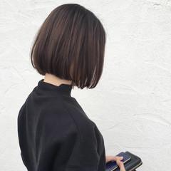 ナチュラル ミニボブ オフィス 大人可愛い ヘアスタイルや髪型の写真・画像
