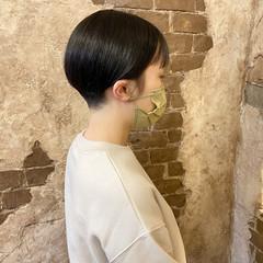 ショートボブ ナチュラル マッシュショート ショート ヘアスタイルや髪型の写真・画像