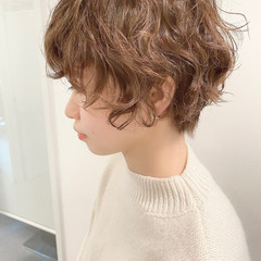 オフィス ベリーショート デート ナチュラル ヘアスタイルや髪型の写真・画像