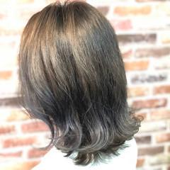 こなれ感 ミディアム グラデーションカラー 抜け感 ヘアスタイルや髪型の写真・画像