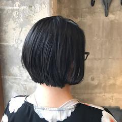 ボブ アウトドア オフィス リラックス ヘアスタイルや髪型の写真・画像