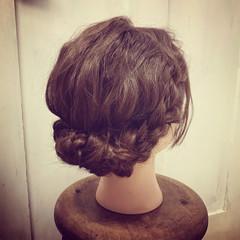 結婚式 成人式 ミディアム ヘアアレンジ ヘアスタイルや髪型の写真・画像