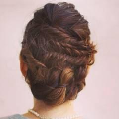フェミニン 三つ編み 愛され モード ヘアスタイルや髪型の写真・画像