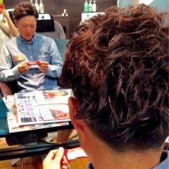 パーマ 坊主 ヘアスタイルや髪型の写真・画像