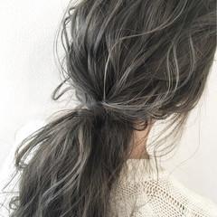 簡単ヘアアレンジ ヘアアレンジ 秋 ナチュラル ヘアスタイルや髪型の写真・画像