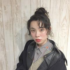 モード フリンジバング 大人女子 パーマ ヘアスタイルや髪型の写真・画像