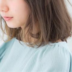 小顔 デート ロブ ボブ ヘアスタイルや髪型の写真・画像