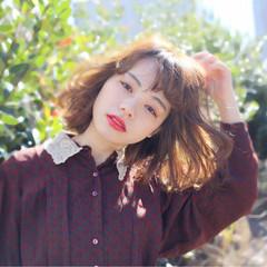 ニュアンス フェミニン ミルクティー 大人かわいい ヘアスタイルや髪型の写真・画像