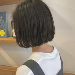 ボブ 黒髪 ショートボブ ナチュラル ヘアスタイルや髪型の写真・画像