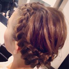 ルーズ ヘアアレンジ センターパート セミロング ヘアスタイルや髪型の写真・画像
