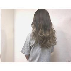 グラデーションカラー ストリート セミロング 外国人風 ヘアスタイルや髪型の写真・画像