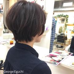 ショート 大人かわいい 簡単 グラデーションカラー ヘアスタイルや髪型の写真・画像