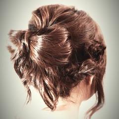 ヘアアレンジ ゆるふわ 愛され セミロング ヘアスタイルや髪型の写真・画像