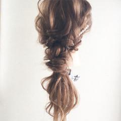 ロング アンニュイほつれヘア デート 結婚式 ヘアスタイルや髪型の写真・画像