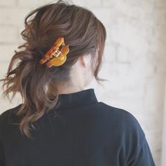 ハーフアップ ヘアアレンジ 大人かわいい フェミニン ヘアスタイルや髪型の写真・画像