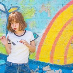 大人女子 小顔 ボブ リラックス ヘアスタイルや髪型の写真・画像