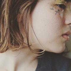 大人かわいい ハイライト パーマ ナチュラル ヘアスタイルや髪型の写真・画像