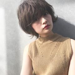 前髪あり 大人かわいい ニュアンス ナチュラル ヘアスタイルや髪型の写真・画像