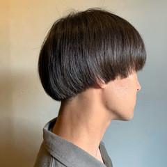 マッシュ ショート マッシュショート 黒髪 ヘアスタイルや髪型の写真・画像