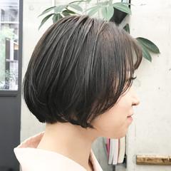 ナチュラル まとまるボブ 前下がりボブ 透明感カラー ヘアスタイルや髪型の写真・画像