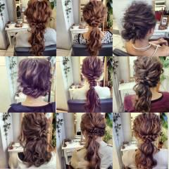 ルーズ ゆるふわ ヘアアレンジ フェミニン ヘアスタイルや髪型の写真・画像