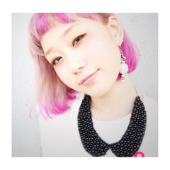 外国人風 外ハネ パープル ピンク ヘアスタイルや髪型の写真・画像