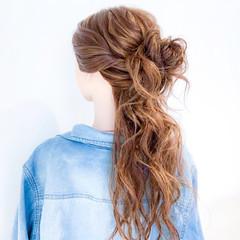 簡単ヘアアレンジ ロング ショート アウトドア ヘアスタイルや髪型の写真・画像