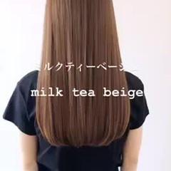 ベージュ アッシュベージュ ナチュラル ブラウンベージュ ヘアスタイルや髪型の写真・画像