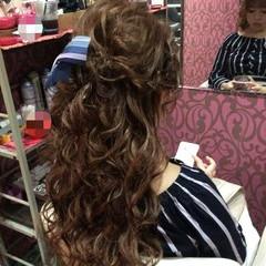 上品 エレガント 結婚式 編み込み ヘアスタイルや髪型の写真・画像