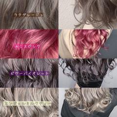 外国人風カラー フェミニン 髪質改善トリートメント ブリーチなし ヘアスタイルや髪型の写真・画像
