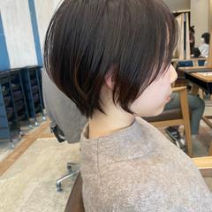 ショートボブ デート ナチュラル アンニュイほつれヘア ヘアスタイルや髪型の写真・画像