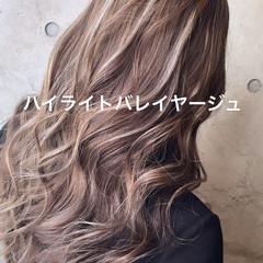 ストリート コントラストハイライト ハイライト ロング ヘアスタイルや髪型の写真・画像