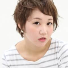 モテ髪 ナチュラル 卵型 ショート ヘアスタイルや髪型の写真・画像