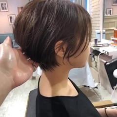 ハンサムショート ショートボブ ナチュラル ショートヘア ヘアスタイルや髪型の写真・画像