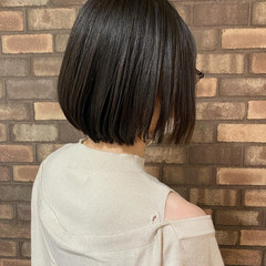 ストレート ボブ ナチュラル ヘアドネーション ヘアスタイルや髪型の写真・画像