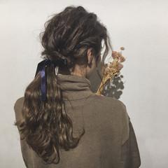 アッシュ ナチュラル ミルクティー ヘアアレンジ ヘアスタイルや髪型の写真・画像