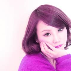 モテ髪 ピンク レッド 秋 ヘアスタイルや髪型の写真・画像