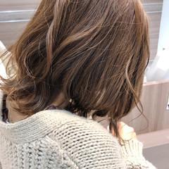 ボブ ミルクティー ミルクティーベージュ 外国人風カラー ヘアスタイルや髪型の写真・画像