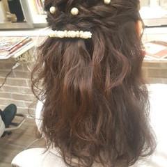 モテ髪 簡単ヘアアレンジ 結婚式 ヘアアレンジ ヘアスタイルや髪型の写真・画像