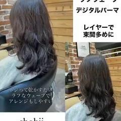 無造作パーマ ゆるふわパーマ デジタルパーマ ナチュラル ヘアスタイルや髪型の写真・画像