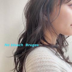デジタルパーマ 暗髪女子 イルミナカラー 暗髪 ヘアスタイルや髪型の写真・画像