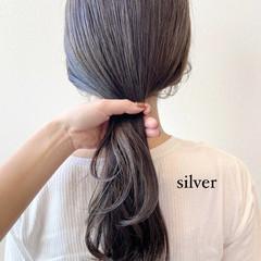 圧倒的透明感 3Dハイライト ロング スモーキーカラー ヘアスタイルや髪型の写真・画像